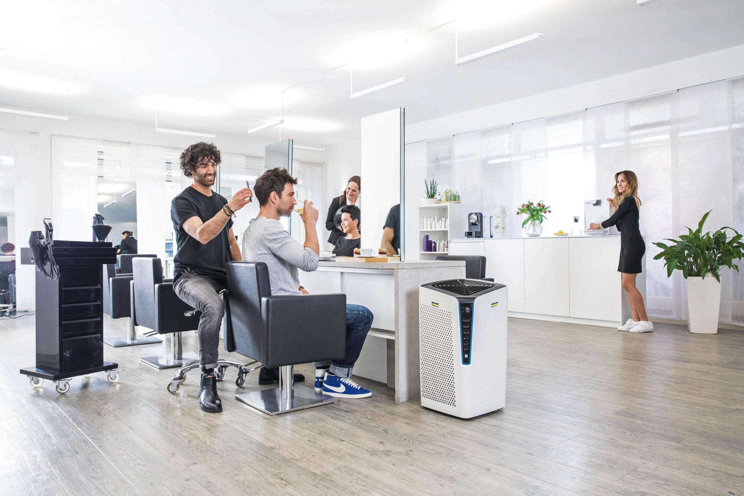 Hochwertige Luftreiniger im Friseursalon